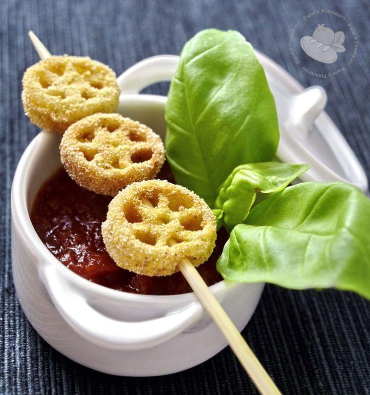 Ruote fritte al pomodoro dolce