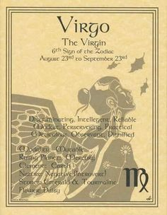 "A wonderful reference, the Virgo zodiac poster explores the qualities of the 6th sign of the zodiac. Parchment posters 8 12"" x 11"""
