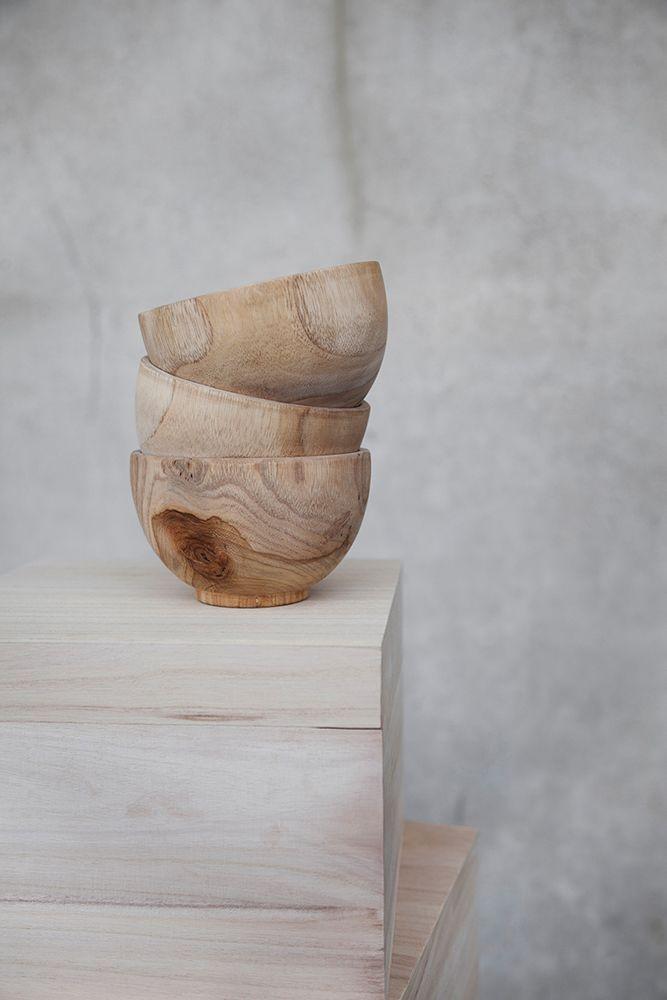 wooden bowls.