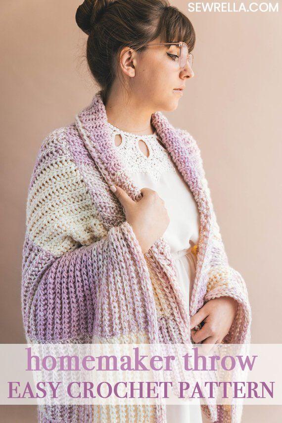 The Homemaker Crochet Throw Crocheted Lovelies Pinterest