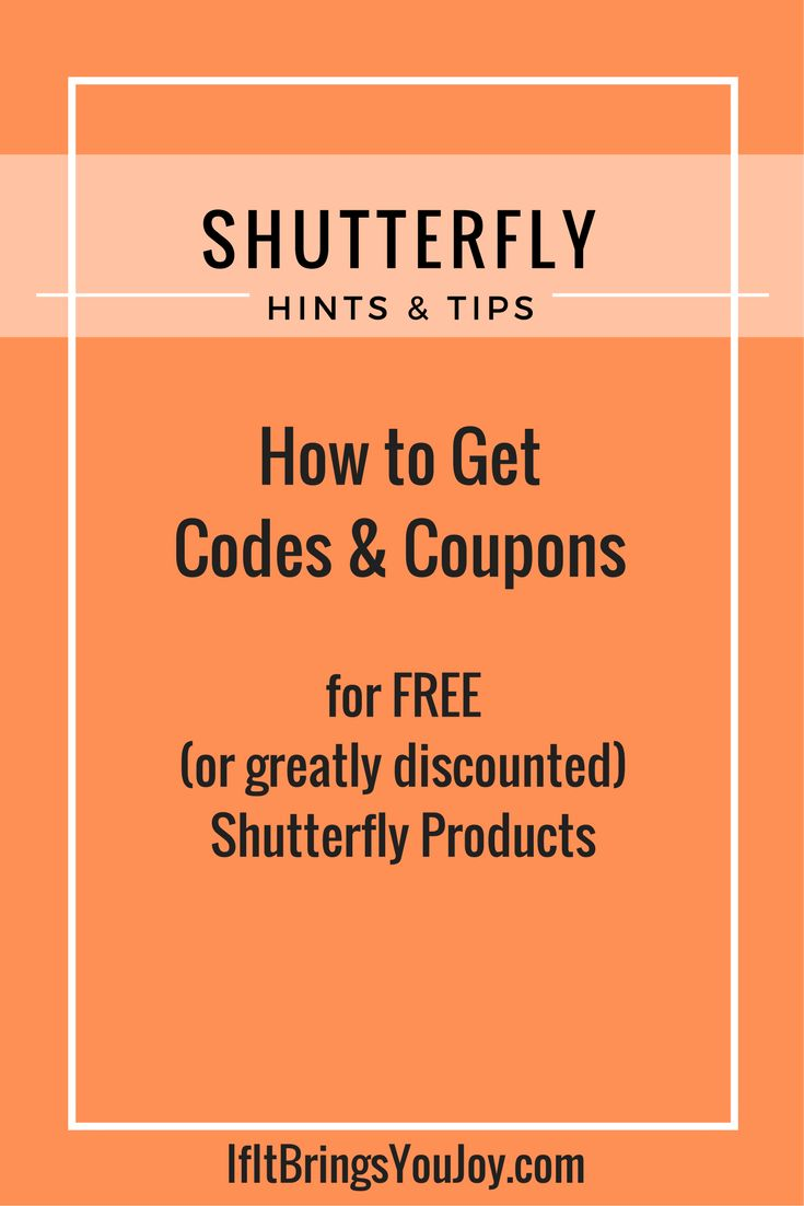 Get the latest Shutterfly coupons and promotion codes automatically applied at checkout. Plus earn rewards at thousands of stores and redeem them for free gift cards.