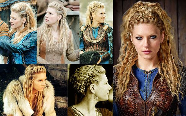s rie vikings coiffure guerri re de lagertha lothbrok tout en tresse tendance coiffure femme. Black Bedroom Furniture Sets. Home Design Ideas