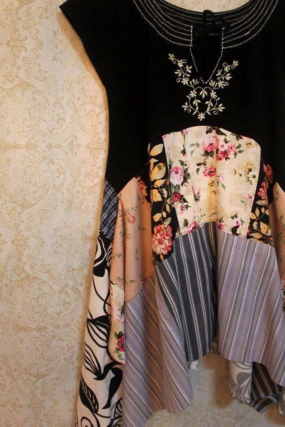 Ideias para dar nova vida a t-shirts antigas ou para darmos um toque único às nossas roupas!                  Boas Costuras!   Fonte:pintere...