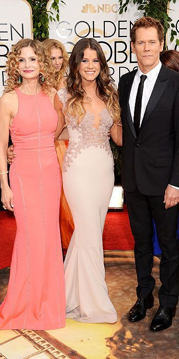 Golden Globes 2014: Arrivals : People.com; Kyra Sedgwick, Sosie Bacon, Kevin Bacon