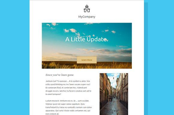 Simple - Email Newsletter Template by AsOfLatte on @creativemarket