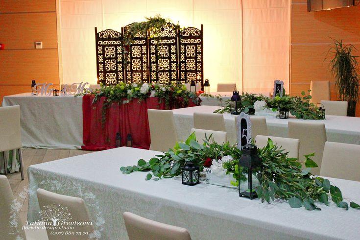 Декор гостевых столов.