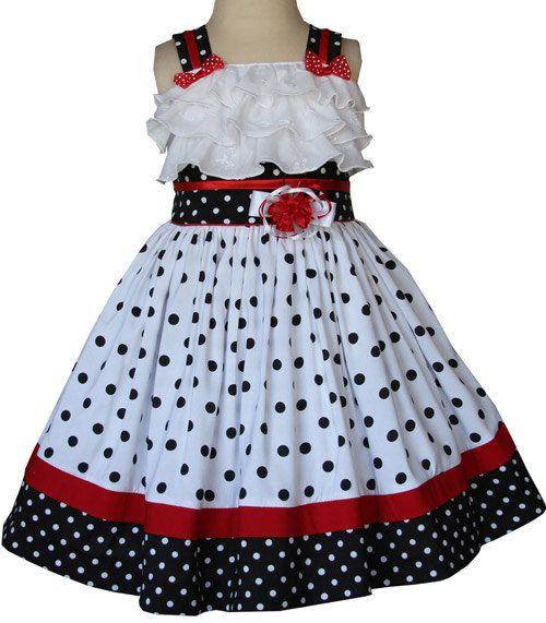 Little girls minnie summer dress Disney vacation a by CarouselWear, $52.99