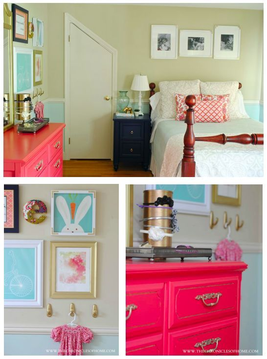The Chronicles of Home: Aqua, Navy, and Coral Girl's Bedroom