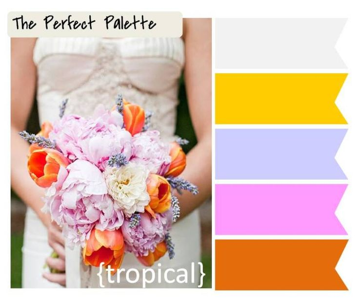 The Perfect Palette: 6 Palette Inspiring Wedding Bouquets!