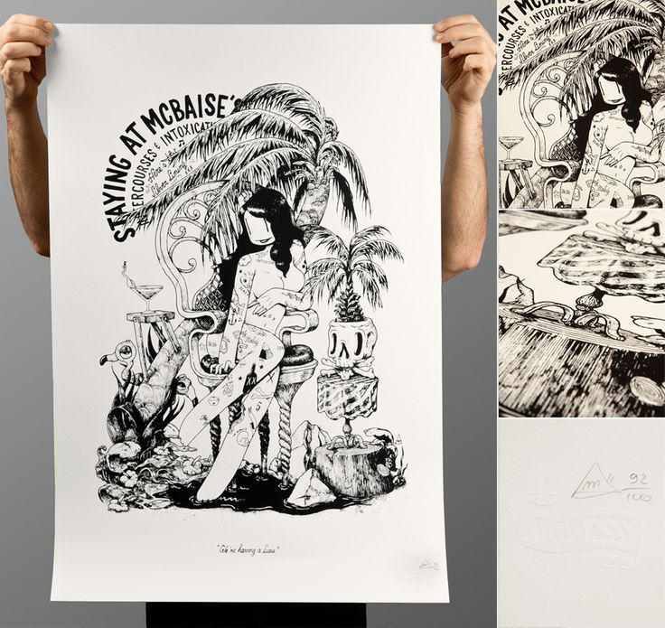 02.2015   Staying at Mcbaise'sSick of this shitty weather? Get a bit of summer for your flat with this new screenprint! Limited to 100 pieces. So you rather be quick.Available here:http://www.dudes-factory.com/europe_euro/mcbess-atmcbaise-0204913400.html