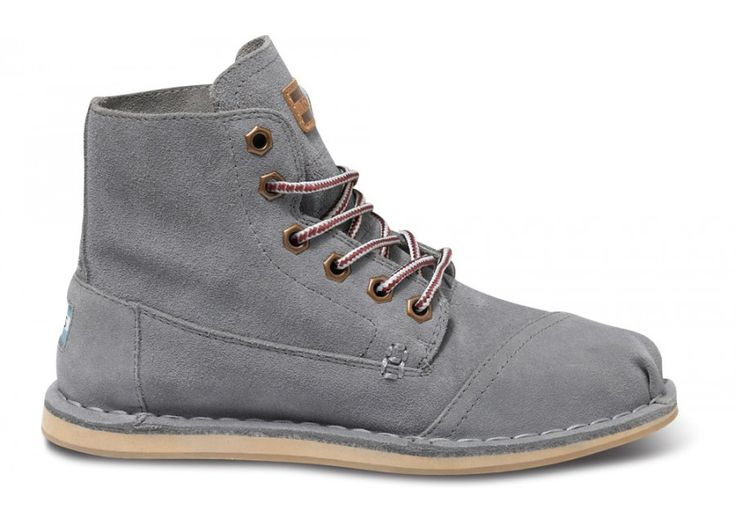 Grey Suede Women's Tomboy Boots side TOMS BOOTS!