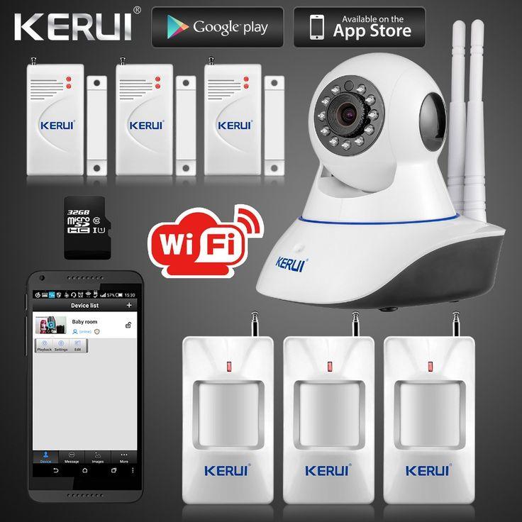 IP Camera Smart Home Intruder Alarm System Wireless Wifi 720P GSM SMS Security