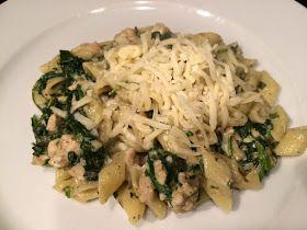 Heerlijke pasta met spinazie en roomkaas