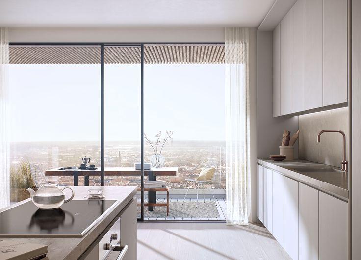 #oscarproperties kitchen - view - city - architecture - design - OMA