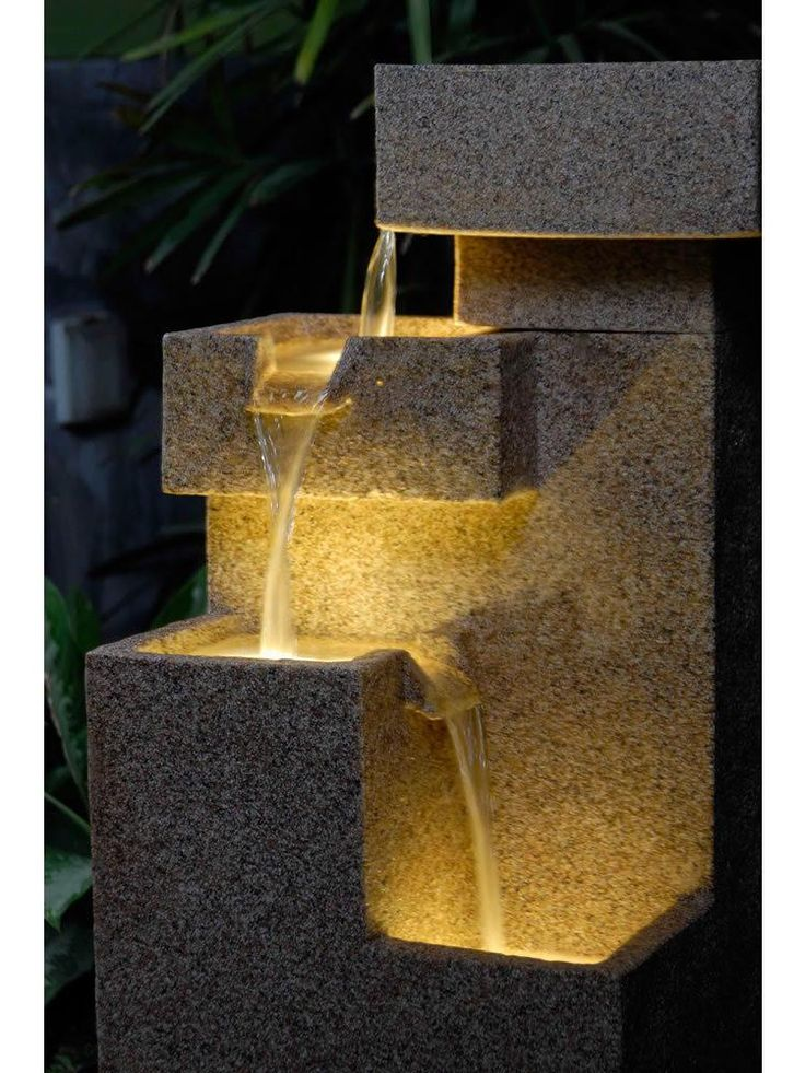 A unique and modern water feature, the Square Sand Fountain is the perfect choice for just about any outdoor space.  With a natural sandstone coloring, tier of