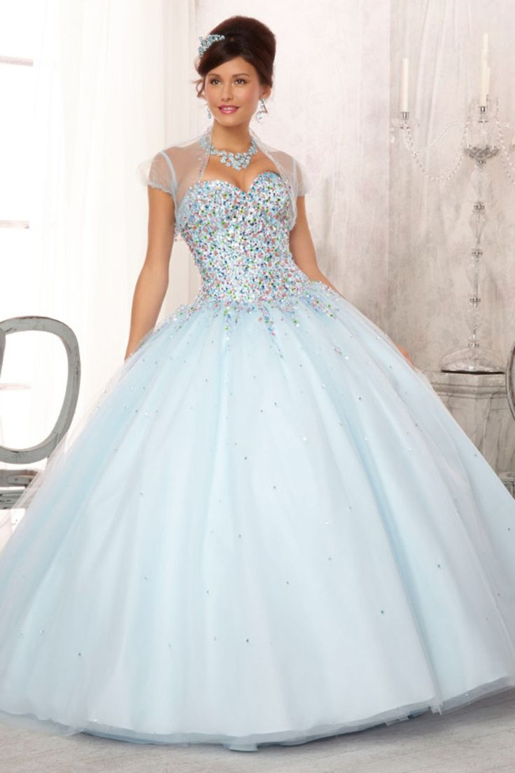 Concise Sweetheart A Line Floor Length Quinceanera Dresses Beaded Bodice Pick Up Tulle Skirt