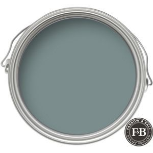Farrow & Ball No.85 Oval Room Blue - Exterior Masonry Paint - 5L paint swatch