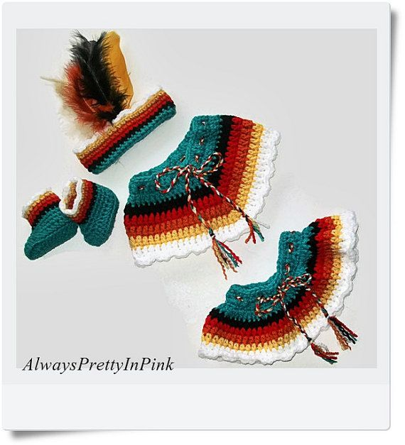 CROCHET PATTERN/ Native Baby Costume/ Crochet Indian Baby Pattern/ Baby Crochet…