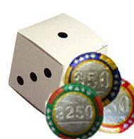 10-pc Chocolate Casino Chip Dice Box