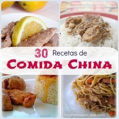 30 Recetas de comida china para hacer en casa #recetascaseras #recetas #comidachina   http://shar.es/VcPby