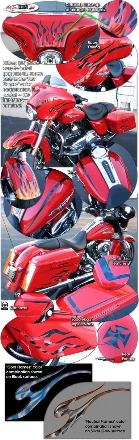 Motorcycle Specific Graphic Kits For Harley Davidson