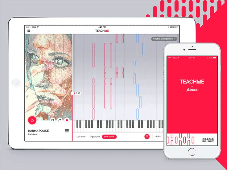Hi, Guys!  This is learning app concept interface. This is a first one that is dedicated to piano classes. We tried to make it light and convenient. What do you thing about this, please tell your thoughts.  PS. Special thx for marvelous painter @Marie-Esther for the song cover art.