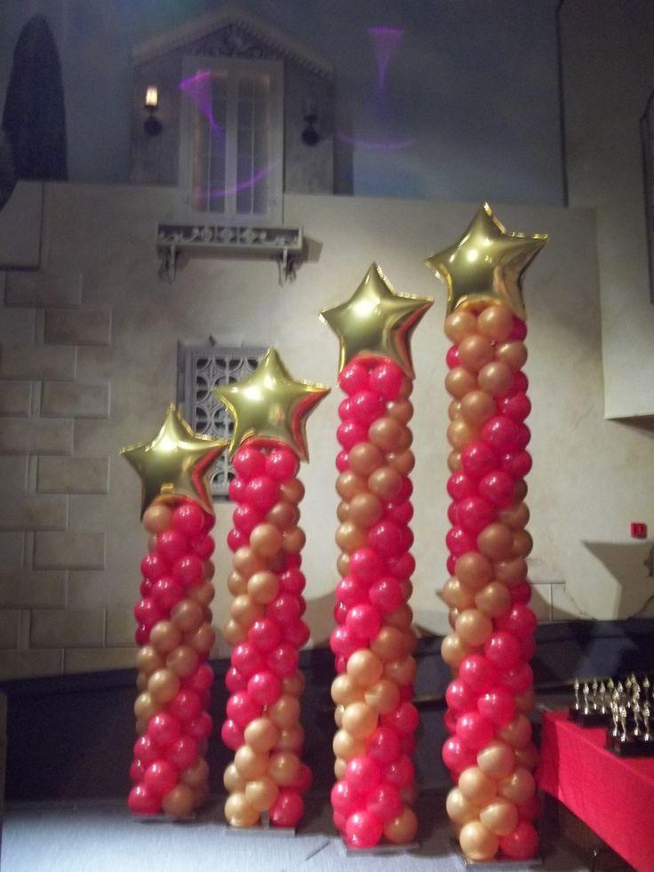 2055 best balloon columns images on pinterest balloon for Balloon column decoration