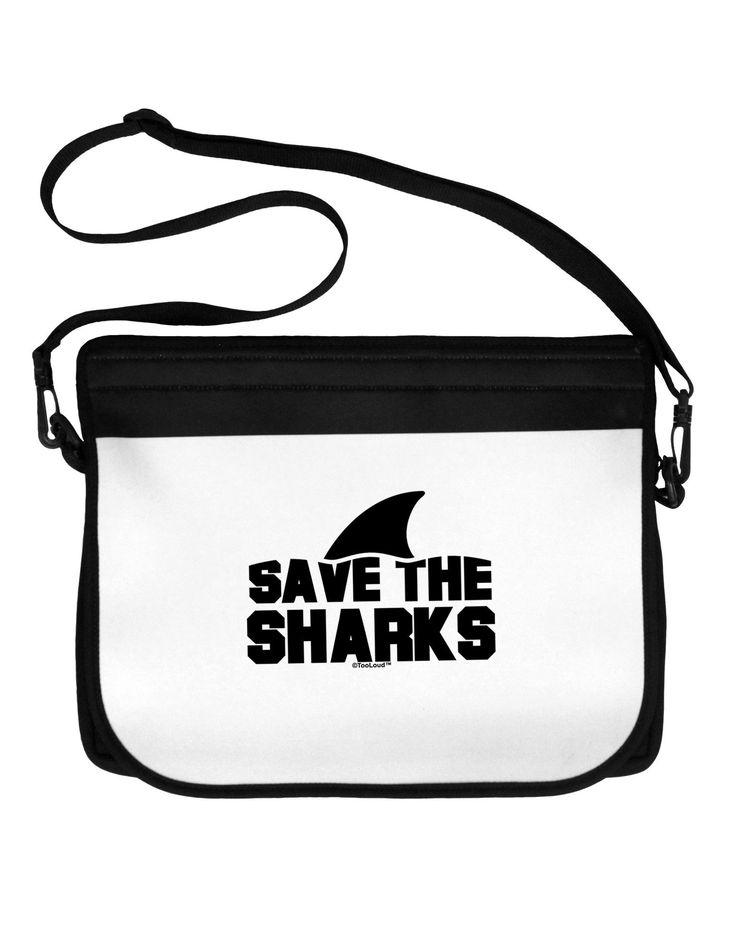 Save The Sharks - Fin Neoprene Laptop Shoulder Bag