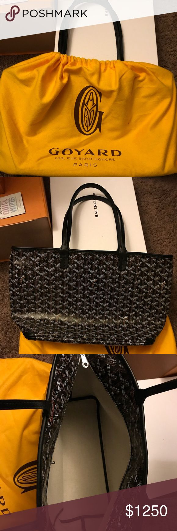 Authentic Goyard purse Authentic brand new Goyard purse. Comes with dust bag, original shopping bag, authorization cards, and receipt. Last picture shows how big the purse is.❗️This purse shows sold in my closet but it is not sold!!❗️ Goyard Bags Shoulder Bags