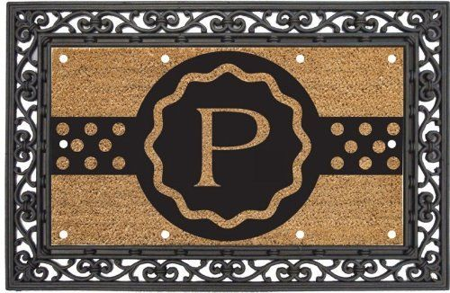 "EverOptics, Monogram, P,Lighted Coir Floormat With Black Rubber Base,28x16 Inches by Ashley Gifts. $49.99. Light up your steps with the EverOptic Luminous Mat!. anti-skid surface;Easy to clean. This Set includes one Coir Mat and one Rubber Base; Coir Mat Size is: 28""x16""; Rubber Base Size is: 36""x24"". Coconut fiber coir material; Fade and weather resistant. Recycled rubber backing. The LED lighting system uses 10 Embedded super bright led lights to light up the dark w..."