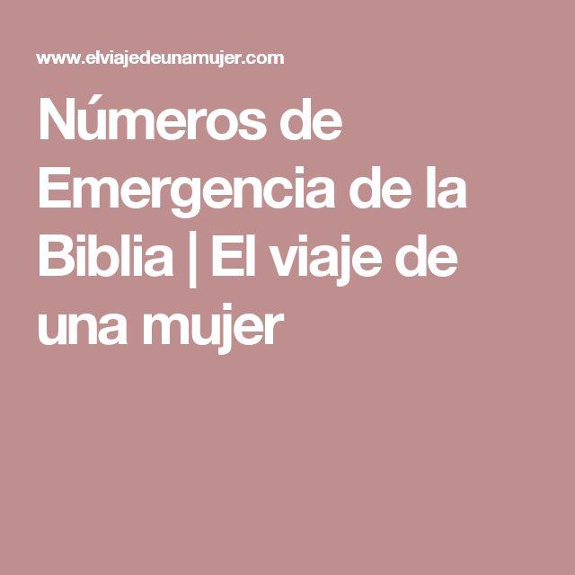 Números de Emergencia de la Biblia | El viaje de una mujer