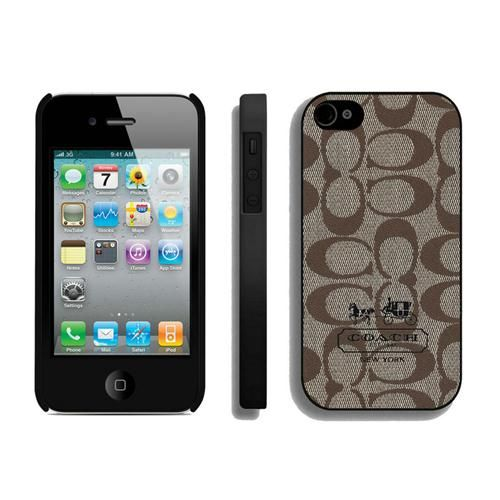 $8.99  cuddlestudios.com - High Quality Coach In Signature Beige iPhone 4 4S Cases AIN outlet