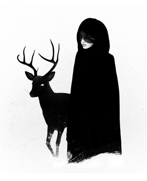 Absentia in white Canvas Print by Ruben Ireland