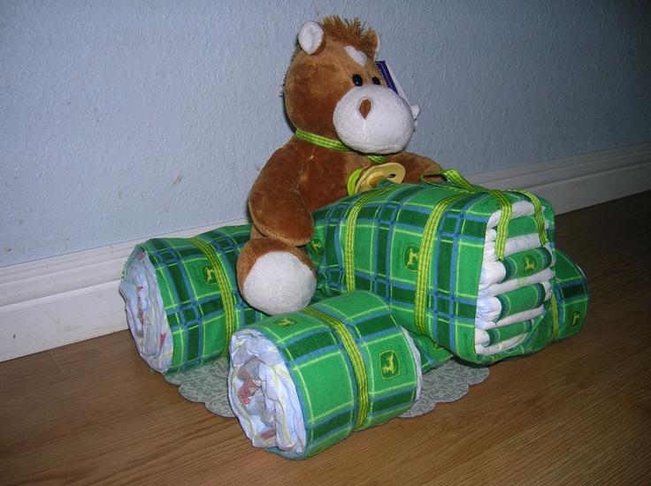 John Deere Diaper Tractor : Best diaper cakes images on pinterest baby