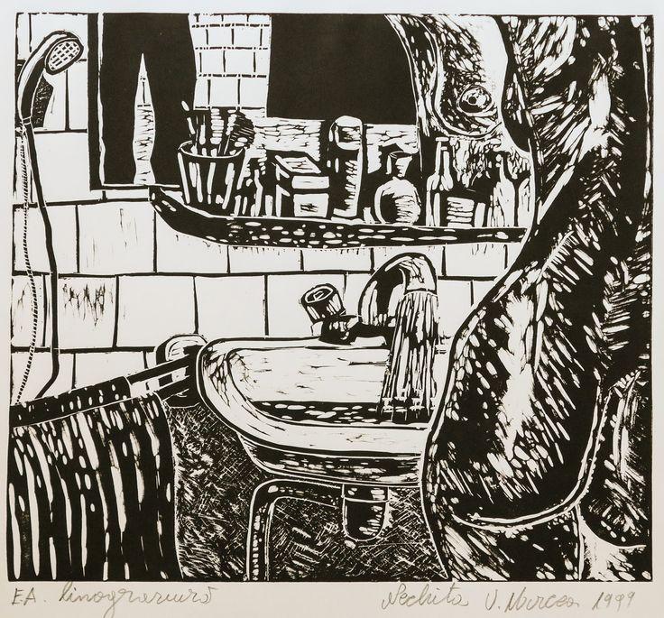 Toaleta.linogravura