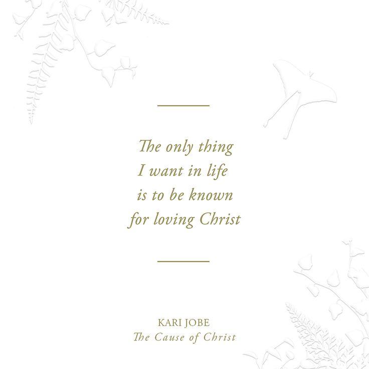 The Cause of Christ//Kari Jobe