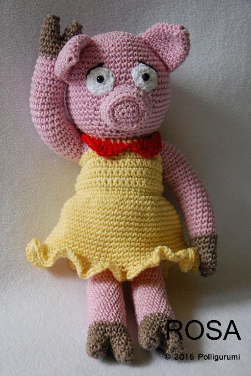 (4) Name: 'Crocheting : ROSA the pig girl Amigurumi Pattern