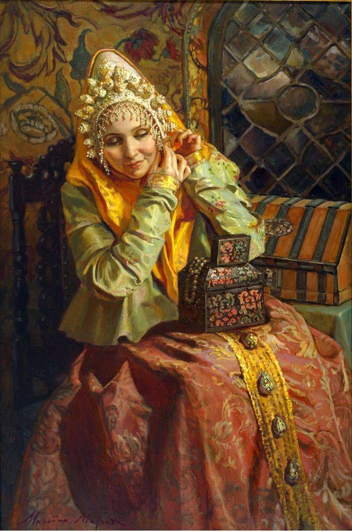 Русские красавицы в картинах художника Марии Молодых