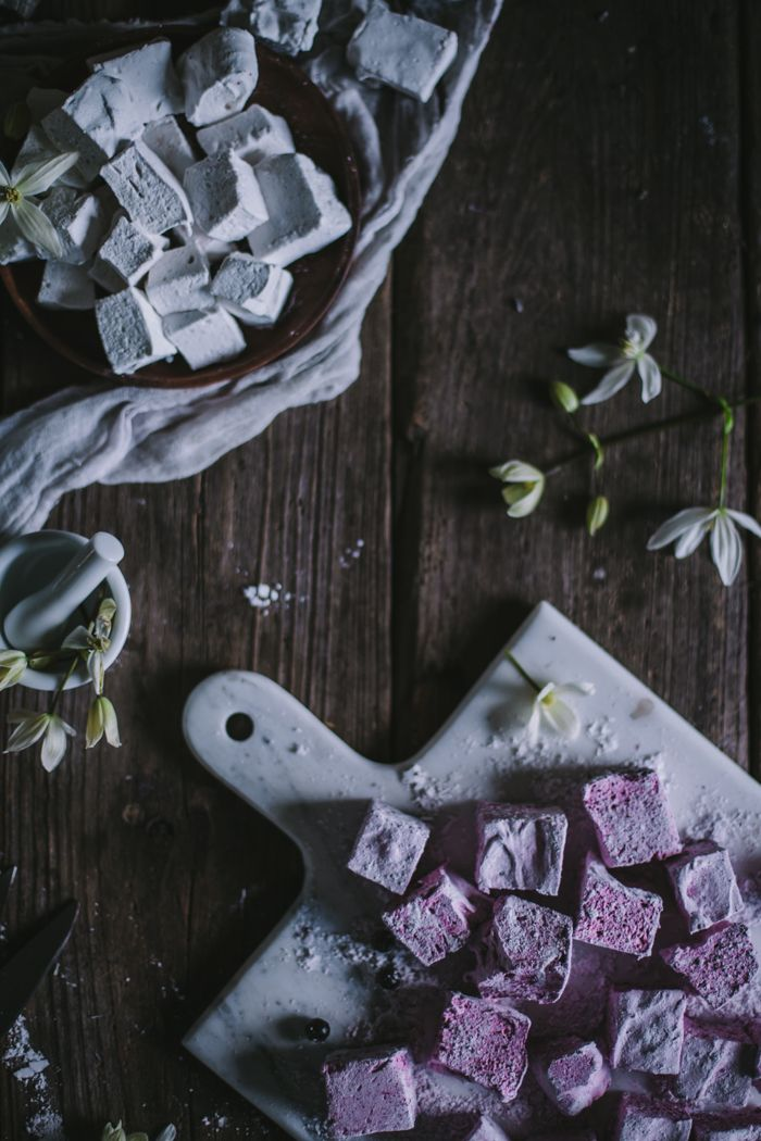 Lavender Black Currant & Vanilla Bean Rose Homemade Marshmallows by Eva Kosmas Flores   Adventures in Cooking
