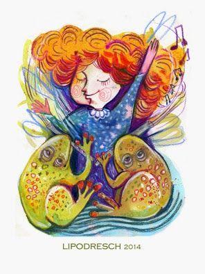 Bóbita Bóbita táncol, körben az angyalok ülnek, béka-hadak fuvoláznak, sáska-hadak hegedülnek...  Weöres Sándor  illustration by Lipovszky-Drescher Mária