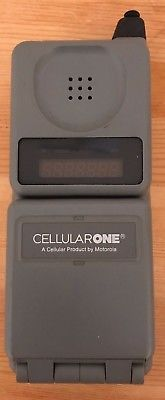 Motorola Vintage (Cellular One) MicroTac Phone, Untested, Model: F09HLD8416AG