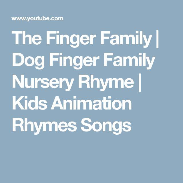 The Finger Family | Dog Finger Family Nursery Rhyme | Kids Animation Rhymes Songs