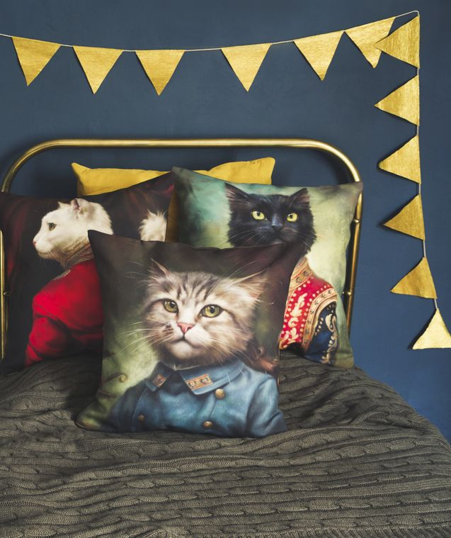 Calling all #catladies, these pillows are perfect. They even hide cat hair! Find more cat-tastic throw pillows on Redbubble.