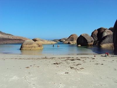 Denmark Western Australia - swimming at Elephant Cove in summer.