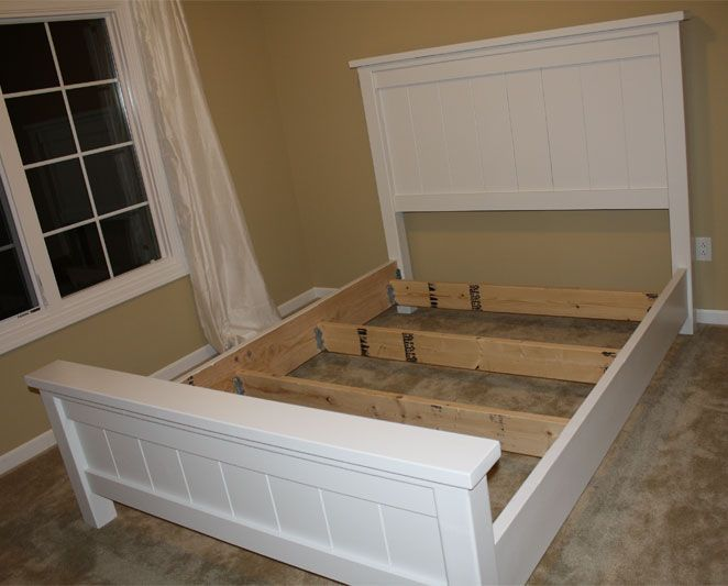 Farmhouse Bed Ana White Diy wood plans
