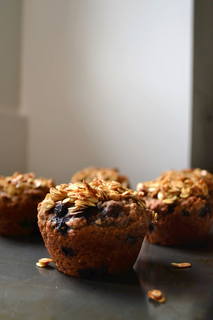 Chestnut Flour Muffins with Blueberries & Oat Topping (DSC_0748)