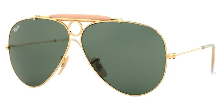 Ray-ban Shooter Gold Aviator Sunglasses RB 3138 001 58mm +SD Gift +Cleaning Kit. Includes Free ShadesDaddy Glasses w/ Purchase + Cleaning Kit. Made in Italy. Comes with All Original Packaging. Gold Frame - Shooter Ray-Ban Aviator. Manufacturer Warranty.