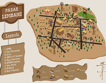 """Check out new work on my @Behance portfolio: """"Infotaiment Map - Pasar Lembang"""" http://on.be.net/1cmhNLO"""