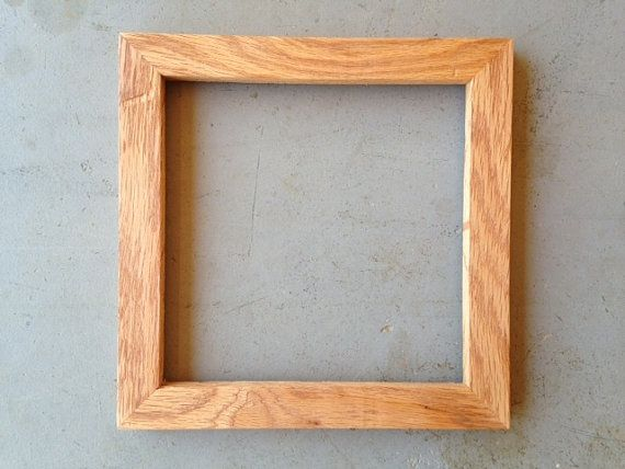 8x8 oak picture frame by jonesframing on etsy