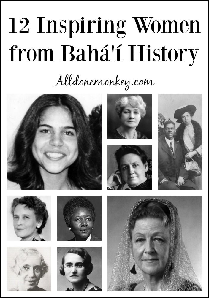 For Women's History Month, learn more about 12 inspiring women from Baha'i history, including educators, philanthropists, journalists, Civil Rights advocates, and community leaders.